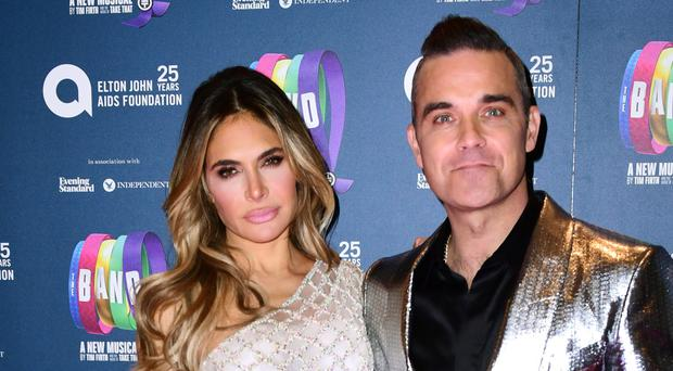 Robbie Williams' wife Ayda has dealt a knockout blow to his hopes of settling his feud with Liam Gallagher in a boxing ring (Ian West/PA)