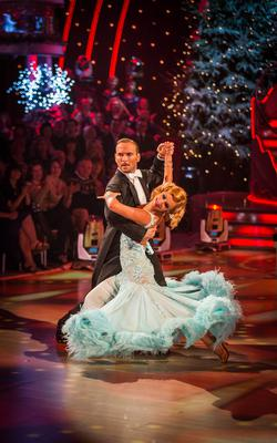 Matt Goss with partner Aliona Vilani on the Strictly Come Dancing Christmas special 2013 (Guy Levy/BBC)