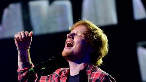 Ed Sheeran is at number one with Thinking Out Loud