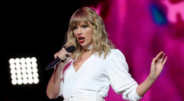 Taylor Swift performs on stage during day two of Capital's Jingle Bell Ball (Isabel Infantes/PA)