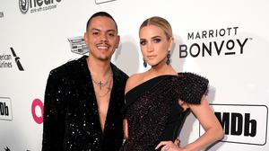 Evan Ross and Ashlee Simpson (PA)