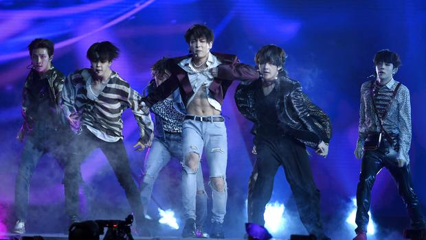 BTS performs Fake Love at the Billboard Music Awards in Las Vegas (Chris Pizzello/Invision/AP)