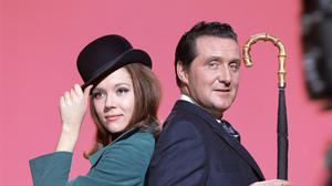 Actor Patrick Macnee, with Avengers co-star Diana Rigg (TV Times/PA)