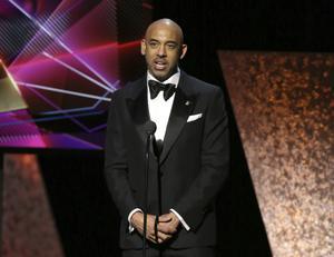 Harvey Mason Jr addresses the Grammy Awards audience (Matt Sayles/Invision/AP/PA)