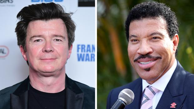 Rick Astley and Lionel Richie (PA)