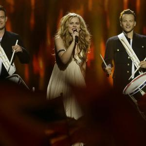 Emmelie de Forest of Denmark performs her song Only Teardrops during the final of the Eurovision Song Contest (AP)