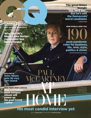 Sir Paul McCartney on the September cover of GQ (Credit: Mary McCartney)