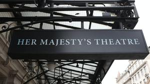 The sign of Her Majesty's Theatre in London (Luciana Guerra/PA)