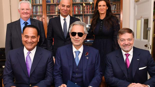Andrea Bocelli launches the scholarship (Chris Christodoulou)