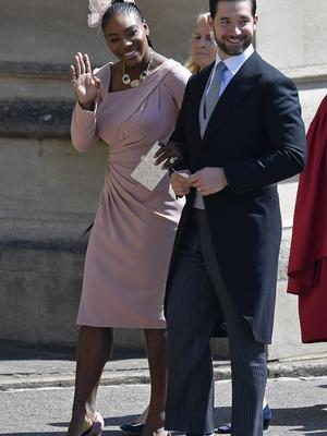 Serena Williams and Alexis Ohanian at the royal wedding (Toby Melville/PA)