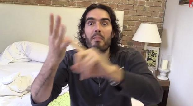 Russell Brand is threatening to sue The Sun over reports about his housing arrangements (Russell Brand/YouTube)