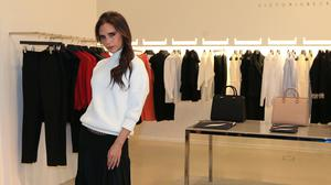 Victoria Beckham with her collection