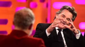 Kurt Russell during filming of the Graham Norton Show