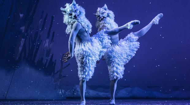 Members of the Scottish Ballet perform on stage during a dress rehearsal of The Snow Queen at Festival Theatre, Edinburgh (Jane Barlow/PA)