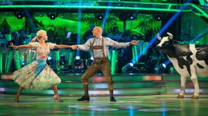 Judge Rinder says he had doubts about how legal colleagues would view his Strictly routines with dance partner Oksana Platero (BBC/PA Wire)