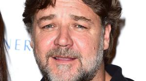 Russell Crowe attends a press conference for his new film The Water Diviner