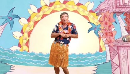 Daniel O'Donnell has been cheering up fans with his new tropical music video for 'Down at The Lah De Dah'