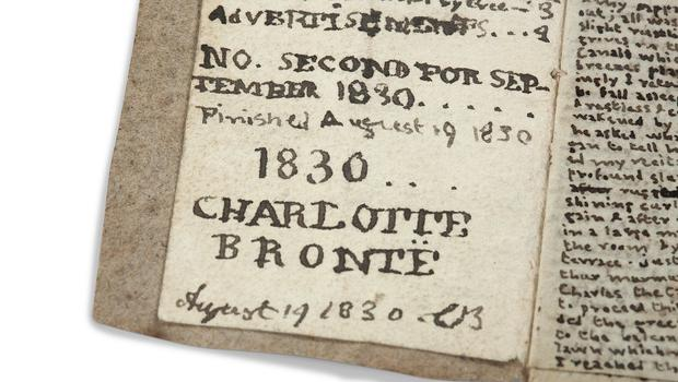 Part of the manuscript of an early Charlotte Bronte work (Bronte Parsonage Museum/PA)