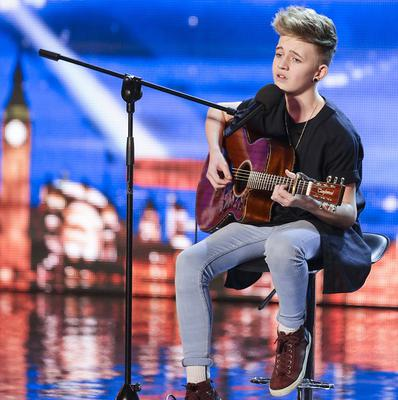 Bailey McConnell performing on Britain's Got Talent
