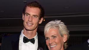 Andy Murray has recorded a special video in support of his mother Judy on Strictly Come Dancing+