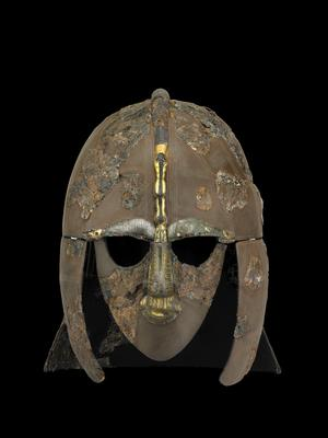 The helmet from Sutton Hoo is in its online collection (British Museum)