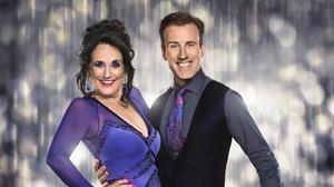 Birds of a Feather star Lesley Joseph with her Strictly Come Dancing partner Anton Du Beke (BBC/PA)