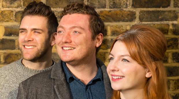 My Dad Wrote A Porno presenters Alice Levine, Jamie Morton and James Cooper met at Leeds University (Dominic Lipinski/PA)