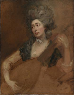 Thomas Gainsborough's Portrait Of Margaret Gainsborough Holding A Theorbo (National Portrait Gallery, London)