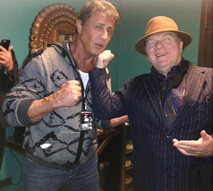 Van Morrison with Sylvester Stallone