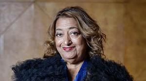 Dame Zaha Hadid after receiving the 2016 Royal Gold Medal for architecture