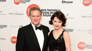 Hugh Bonneville and Elizabeth McGovern arrive at the Downton Abbey Ball in aid of Centrepoint