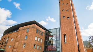 A general view of the outside of the Royal Shakespeare Theatre in Stratford-upon-Avon (Sam Allard/RSC)