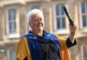 Val McDermid is offering readers the chance to appear in her next book (Andrew O'Brien/Open University/PA)