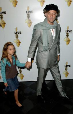 Sir Bob Geldof with Tiger Lily in July 2005 (Steve Parsons/PA)