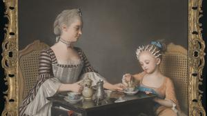 Jean-Etienne Liotard's The Lavergne Family Breakfast is one of the portraits accepted (National Gallery/PA)