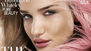 Rosie Huntington-Whiteley is on the cover of Harper's Bazaar magazine