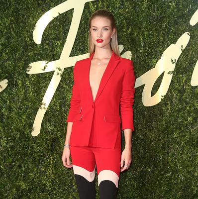 Rosie Huntington-Whiteley was a lady in red