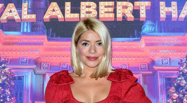 Holly Willoughby arriving for Emma Bunton's Christmas Party held at the Royal Albert Hall in London (Ian West/PA)