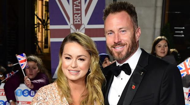 Ola Jordan and husband James Jordan (Ian West/PA)