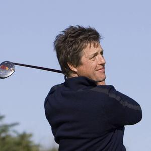 Amateur Hugh Grant during the Alfred Dunhill Links Championship