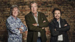 James May, Jeremy Clarkson and Richard Hammond during filming of The Grand Tour (Amazon/PA)