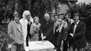 Actor Peter Vaughan (4th from left), who has died aged 93 (Thames TV/PA)