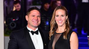 Steve Backshall and Helen Glover welcomed son Logan in July (Ian West/PA)