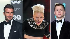 David Beckham, Pink and Taron Egerton are among the stars to have cut their own hair during lockdown (Ian West/Joe Giddens/PA)