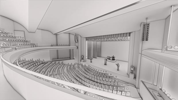 Plan of the new auditorium (South Somerset District Council/PA)