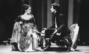 Dame Judi Dench as Gertrude and Daniel Day-Lewis in the title role of the National Theatre's production of Hamlet (PA)