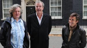 Top Gear presenters James May, Jeremy Clarkson and Richard Hammond had to halt filming in Argentina