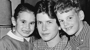 Shirley Ann Grau with her children in 1965, when she won the Pulitzer Prize (AP)
