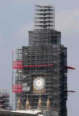 Elizabeth Tower at the Palace of Westminster is under renovation (Jonathan Brady/PA)