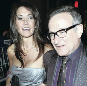 Robin Williams with his wife Susan Schneider